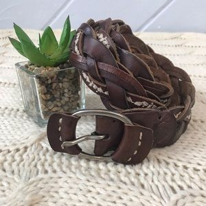 {Abercrombie & Fitch} Braided Leather Belt